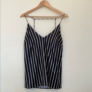 Blue and White Strip Tank Top